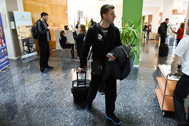 of PPD Zagreb during the Final Tournament - Final Four - SEHA - Gazprom league, team arrival in Varazdin, Croatia, 31.03.2016, ..Mandatory Credit ©SEHA/Zsolt Melczer..