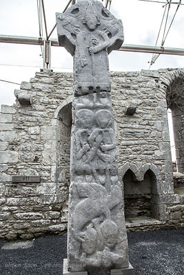 Tall cross, Kilfenora, historic village, The Burren, Ireland