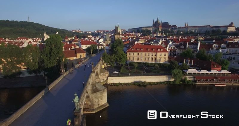 Vltava River Charles Bridge Prague Czech Republic