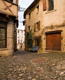 By street in old Billom, Auvergne
