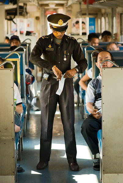 Thai ticket collector