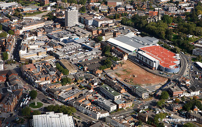 aerial photo of Walsall by aeroengland.co.uk