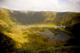 Volcano crater on Faiel Island Azores