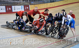 Men Keirin 1-6 Final. Ontario Track Championships, Mattamy National Cycling Centre, Milton, On, March 5, 2017