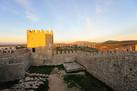 The medieval castle of Sesimbra, Portugal