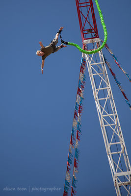 SACRAMENTO, JULY 2013: Bungee jumping at the California State Fair