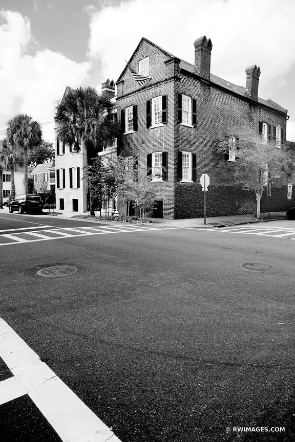 CHARLESTON SOUTH CAROLINA BLACK AND WHITE