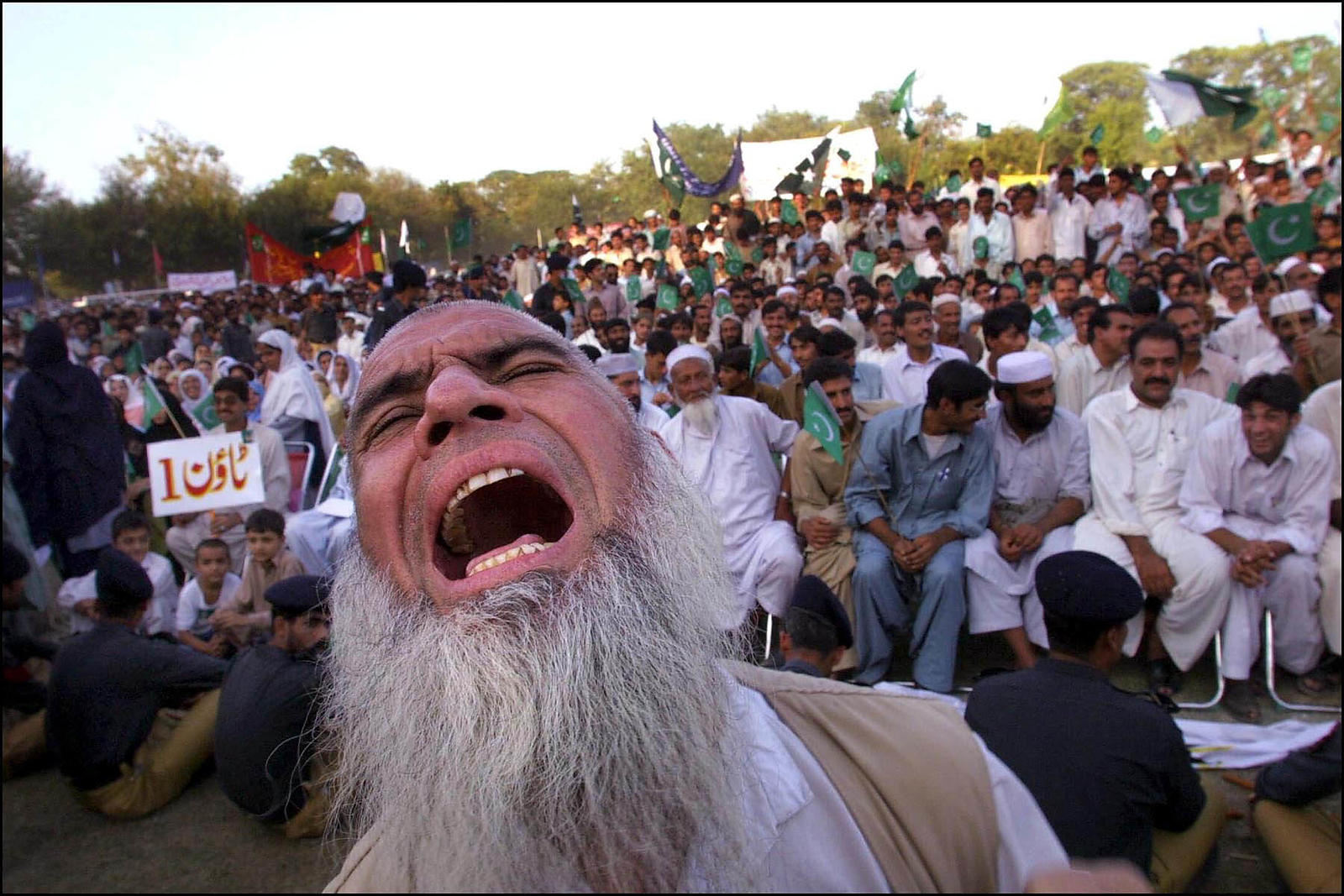 2001 pro-government rally in Peshawar, Pakistan