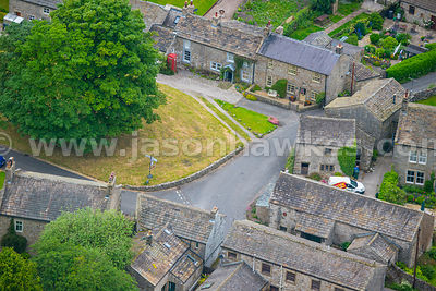 Aerial view of Arncliffe, North Yorkshire
