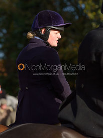 Kelly Morgan at the meet - The Cottesmore at Somerby 5/11