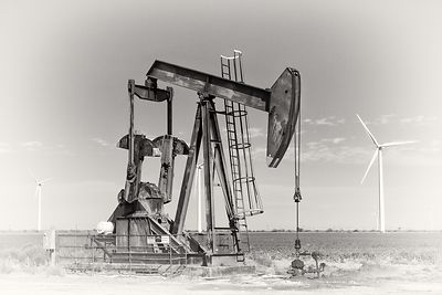 Pump Jack and Wind Turbines #4