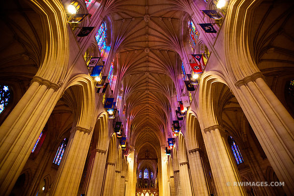WASHINGTON NATIONAL CATHEDRAL INTERIOR WASHINGTON DC COLOR