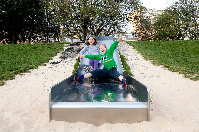 Stainless steel play equipment