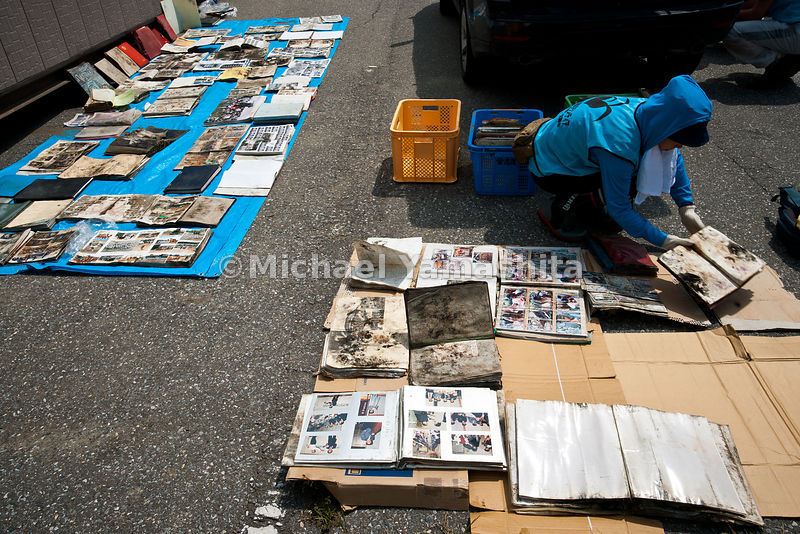Photo rescue center. Restored photo albums, and other personal effects and memorabilia found in tsunami wreckage are displayed here  for victims to come to claim what belongs to them . Average about 17 per day. Run by volunteers like the All Hands volunteer group doing the photo restoration, contact:  Ms. Akiyama, 090 3133 6466, jumpma@aol.com