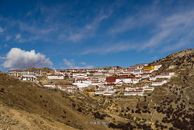 Gaden Monastery or Ganden Namgyeling, one of the 'great three' Gelukpa university monasteries in Lhasa, Tibet.