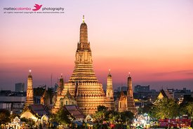 Wat Arun temple at sunset, Bangkok, Thailand