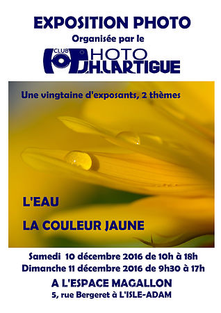 Exposition photos Club J.H. Lartigue L'Isle-Adam décembre 2016 photos