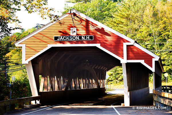 JACKSON COVERED BRIDGE CONWAY NEW HAMPSHIRE WHITE MOUNTAINS NEW HAMPSHIRE