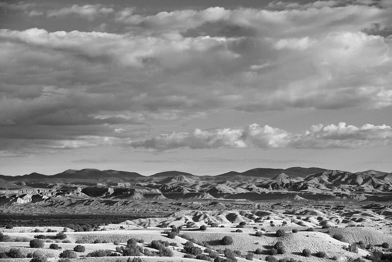 KASHA KATUWE NATIONAL MONUMENT NEW MEXICO LANDSCAPE BLACK AND WHITE