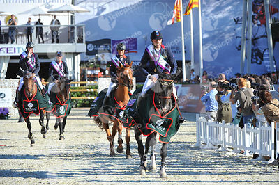 Prize Giving ceremony of FEI Furusiyya Nations Cup Final