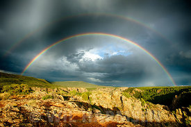 Double Rainbow at Pulpit Rock