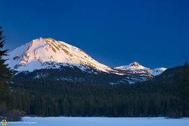 Mt Lassen from Manzanita Lake #9