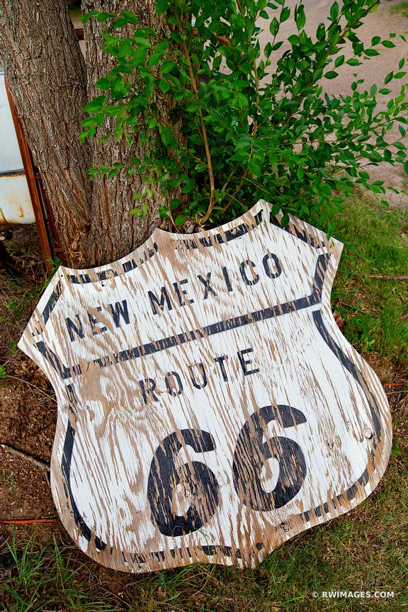 OLD ROUTE 66 SIGN TUCUMCARI NEW MEXICO ROUTE 66
