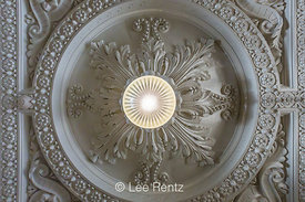 Plaster Ceiling Detail in Restored King Street Station in Seattle