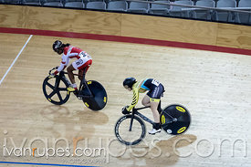 Women Sprint 3-4 Final. Milton International Challenge, Mattamy National Cycling Centre, Milton, On, September 30, 2016