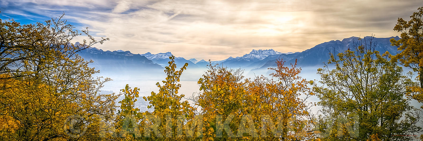 Panorama - Above the clouds - Autumn season