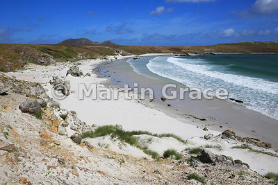 Green Rincon Beach, Pebble Island, Falkland Islands