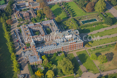 Aerial view of London, Kensington Palace Gardens, Kensington