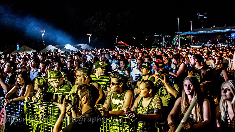 Enjoying the music at night, TBD Fest 2014