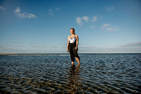 Young Nordic woman in the water