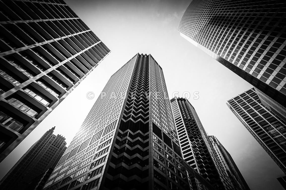 image chicago architecture in black and white large canvas print buy stock photo metal wall. Black Bedroom Furniture Sets. Home Design Ideas