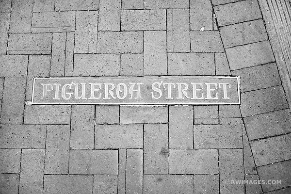 FIGUEROA STREET SANTA BARBARA BLACK AND WHITE