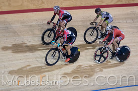 Junior Women Omnium Scratch Race. Milton International Challenge, Mattamy National Cycling Centre, Milton, On, September 30, 2016
