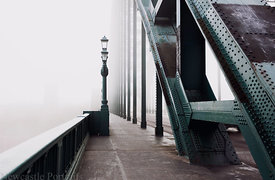 Fog on the Tyne Bridge.