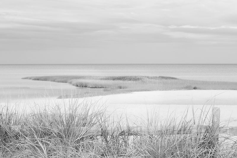 FIRST ENCOUNTER BEACH EASTHAM CAPE COD MASSACHUSETTS BLACK AND WHITE