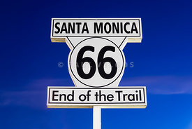 Santa Monica Route 66 Sign