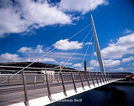 swansea sail bridge across river tawe swansea south wales