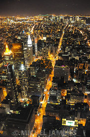 New-York by night depuis l'Empire State Building