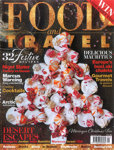 Food and Travel Magazine (Royaume-Uni) Janv 2018 photos