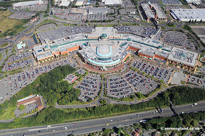 aerial photograph of the Trafford Centre in Dumplington Manchester