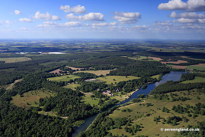 Clumber Park Nottinghamshire aerial photograph