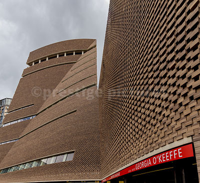 Tate Modern's new extension known as the Switch House or Pyramid Tower
