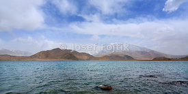 Karakul Lake and Mustagh Ata Mountain, near Kashgar (Kaxgar), West China