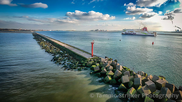 Cruise ship arriving in the Netherlands
