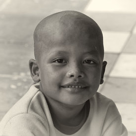 """Young Child at the Angkor Wat Monks School - 2"""""