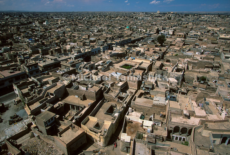 The expanse of low buildings in Mosul cannot have changed much since Marco's time.